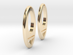 Earring Model I Pair in 14K Yellow Gold