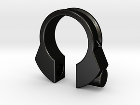 Houdini Ring in Matte Black Steel
