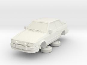 Ford Escort Mk4 1-87 2 Door Xr3i Hollow (repaired) in White Natural Versatile Plastic