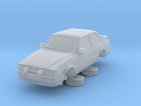 Ford Escort Mk4 1-76 2 Door Xr3i Hollow in Smooth Fine Detail Plastic
