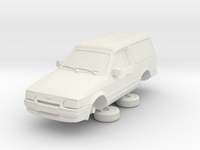 Ford Escort Mk4 1-76 2 Door Large Van Hollow in White Natural Versatile Plastic