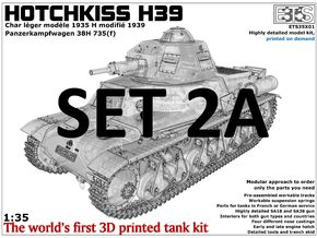 ETS35X01 Hotchkiss H39 - Set 2 option A - SA18 in Smooth Fine Detail Plastic