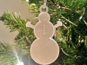 Trapped Wax Snowman Ornament in Smooth Fine Detail Plastic