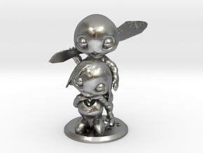 Cute Head V3 Momma And Daddy in Natural Silver