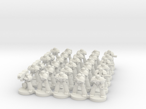8mm Super Soldier Warriors in White Strong & Flexible
