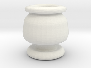 Mini Apothecary Pot - style 3 in White Natural Versatile Plastic