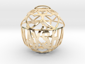 Naysha Lovaball in 14k Gold Plated Brass