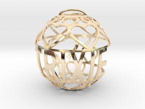 Trixie Lovaball in 14k Gold Plated Brass