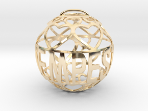 Tempest Lovaball in 14k Gold Plated Brass