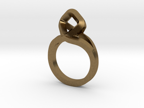 Sharp Rhythm Ring, us size 5 ,d=15,5 mm in Natural Bronze: 5 / 49