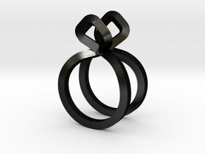 Sharp Rythm Allure, US size 5, Ring d=15,5 mm(all  in Matte Black Steel: 5 / 49