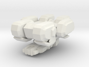 1/350 Terran Seige Tank Tank Mode in White Natural Versatile Plastic