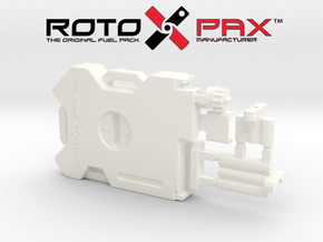 AJ10011 RotopaX 2 Gallon Fuel Pack - WHITE in White Processed Versatile Plastic