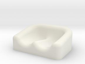 Earplug Dish 01 in White Natural Versatile Plastic