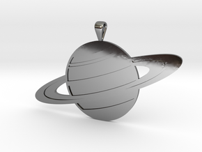 Saturn in Fine Detail Polished Silver