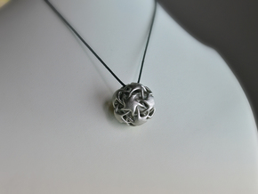 Starball Pendant in Polished Nickel Steel