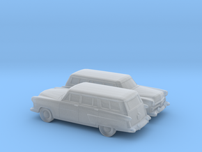 1/160 2X 1952 Ford Crestline Station Wagon in Frosted Ultra Detail