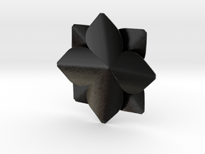 Flower in Matte Black Steel