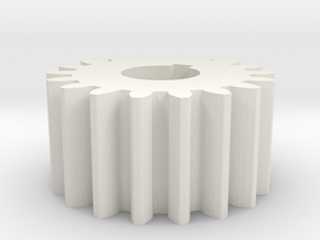Cylindrical gear Mn=1 Z=18 AP20° Beta0° b=10 HoleØ in White Strong & Flexible