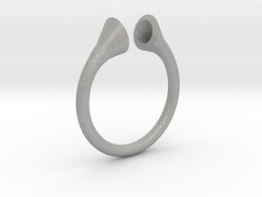 Gramaphonic Sharp Ring, US size 8, d=18 mm in Aluminum: 8 / 56.75