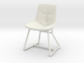 Miniature Corina Chair - Ludovica & Roberto Palomb in White Natural Versatile Plastic: 1:12