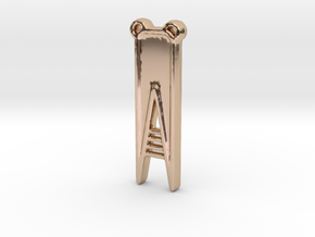 V-9 CH in 14k Rose Gold Plated Brass
