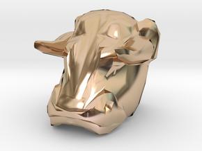 Bull Ring  0.5in in 14k Rose Gold Plated Brass: 1.5 / 40.5