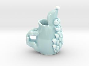 Hedgehog Mug in Gloss Celadon Green Porcelain