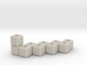 Block menorah in Natural Sandstone