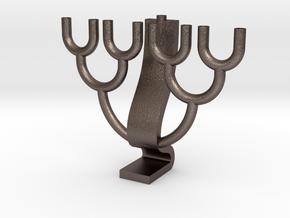 Binary Tree Menorah in Stainless Steel