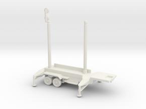 1/200 Scale Patriot Missile Communication Trailer in White Natural Versatile Plastic