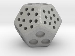 Classic Minimal D12 Dice in Aluminum