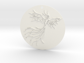 Phoenix Pendant in White Strong & Flexible Polished