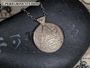 Pendant - Amulet of Julianos in Polished Bronzed Silver Steel
