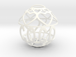Coco Lovaball in White Processed Versatile Plastic