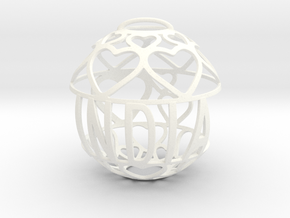 India Lovaball in White Strong & Flexible Polished