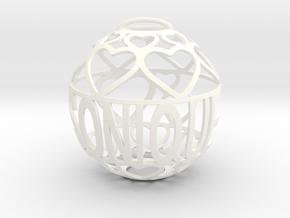 Sonique Lovaball in White Processed Versatile Plastic