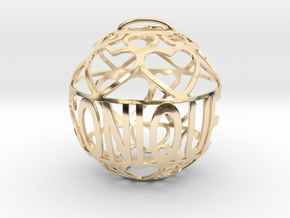 Sonique Lovaball in 14k Gold Plated Brass