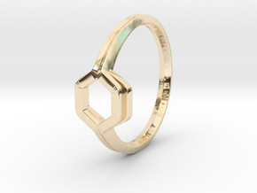 Honey Duo, Ring US size 8, d=18,2mm  in 14K Yellow Gold: 8 / 56.75