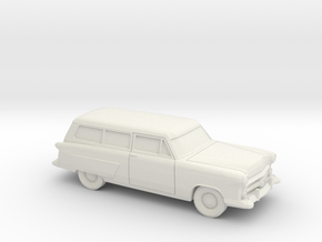 1/87 1952 Ford Crestline Ranch Wagon in White Strong & Flexible