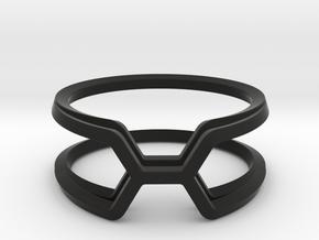 Honey Kissing Duo, Ring US size 8, d=18,2mm  in Black Natural Versatile Plastic: 8 / 56.75