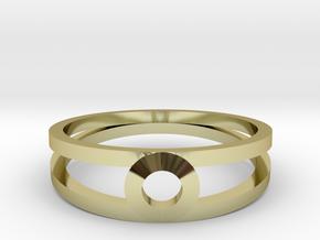 """K Line""  K3 Ring, US size 8, d=18,2mm(all sizes o in 18k Gold Plated Brass: 8 / 56.75"