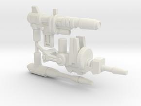 Titan Scout Arsenal, set of 3 Blasters (5mm) in White Natural Versatile Plastic