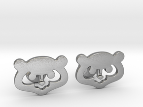 Chicago Cubs Cufflinks in Natural Silver