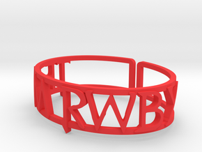 Custom Team RWBY Cuff in Red Processed Versatile Plastic