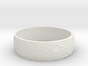 Moon Bracelet in White Natural Versatile Plastic