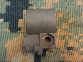 ".625"" ID-Clamp on M16 Bayonet lug in Matte Black Steel"