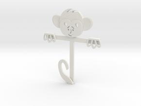 Monkey Gift Card Holder in White Natural Versatile Plastic
