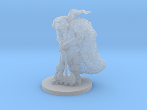 Raven Barbarian Miniature in Smooth Fine Detail Plastic