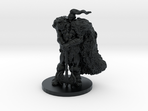 Raven Barbarian Miniature in Black Hi-Def Acrylate